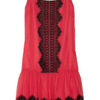 ALICE by Temperley | Laverne lace-appliquéd silk-chiffon dress | NET-A-PORTER.COM