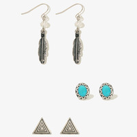 Feather Charm Earring Set | FOREVER21 - 1011415215