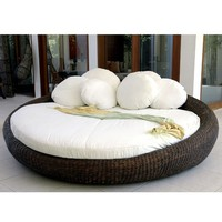 Neoteric Salome Modern Outdoor Wicker DayBed at HomeInfatuation.com.