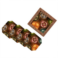 Catherine McDonald Lanterns Coaster Set