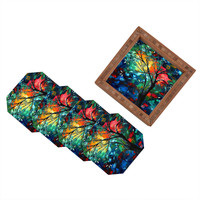 Madart Inc. Spring Blossoms Coaster Set