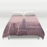 Stardust Covering New York Duvet Cover by Bianca Green | Society6
