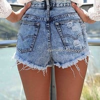 SLASH ACID SHORTS , DRESSES, TOPS, BOTTOMS, JACKETS & JUMPERS, ACCESSORIES, 50% OFF , PRE ORDER, NEW ARRIVALS, PLAYSUIT, COLOUR, GIFT VOUCHER,,SHORTS,Blue,MINI Australia, Queensland, Brisbane