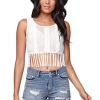 Kendall & Kylie Fringe Cropped Top at PacSun.com