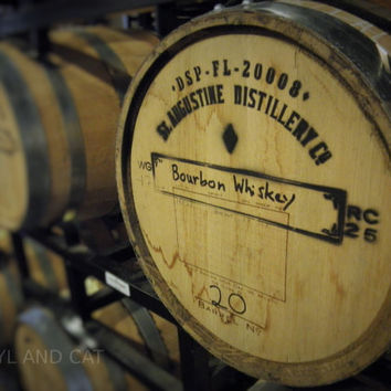 Aging Bourbon Barrel Desktop Wallpaper, Photography Digital Download