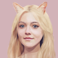 Dakota Fanning Art Print by Pazu Cheng | Society6