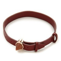 Inlaid Cone Leather Bracelet