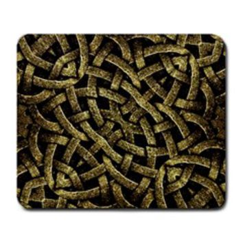 Ancient Arabesque Stone Ornament Large Mouse Pad (Rectangle)