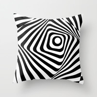 Zebra Op Throw Pillow by Ashley