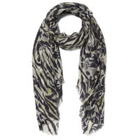 MATTHEW WILLIAMSON WOMEN'S OCELOT MORRIS SCARF - GOLD
