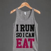 I RUN SO I CAN EAT TANK TOP PINK BLACK ID7251139