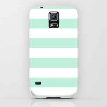 Stripe Horizontal Mint Green iPhone & iPod Case by BeautifulHomes | Society6