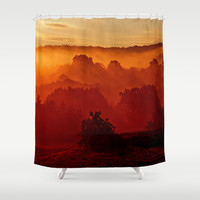 Mystical foggy morning Shower Curtain by Pirmin Nohr