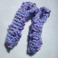 Lip Balm Keychain Holder Crocheted Lavender Chapstick