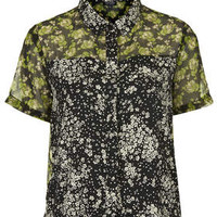 RECLAIM TO WEAR MIX PRINT SHORT SLEEVE SHIRT