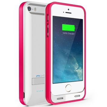 Maxboost Atomic S External Protective iPhone 5S Battery Case / iPhone 5 Battery Case with Built-in…