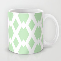 Daffy Lattice Mint Mug by Lisa Argyropoulos | Society6