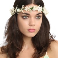 Floral Hair Crown Headband