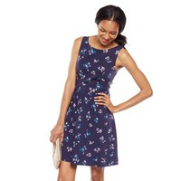 LC Lauren Conrad Butterfly Bow Fit & Flare Dress