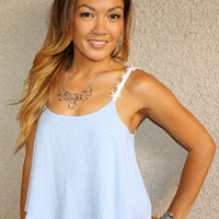 Dots and Daisies Tank (Powder Blue)