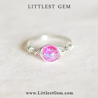 Pink and Purple Ring - unique rings - wire wrapped jewelry handmade - custom ring