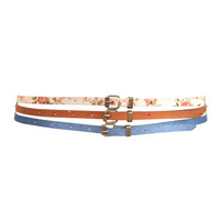 Skinny Belt Set | FOREVER21 - 2083316894