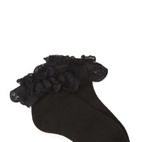Floral Lace Ruffled Socks