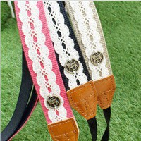Blooming Garden Universal Camera Neck Strap Beige Black Pink with Lace Decor | eBay
