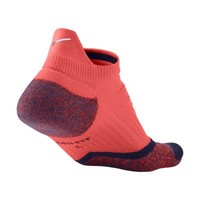 Nike Elite Cushioned No-Show Tab Running Socks - Bright Mango