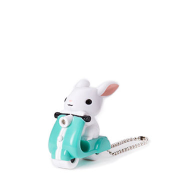 Scooter Bunny LED Keychain