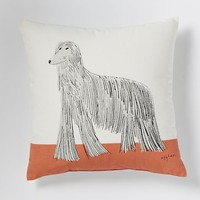 "Gemma Orkin Afghan Pillow, 16""x16"", Peach"