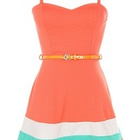 Sweetheart Belted Dress