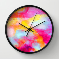 Drift 1 Wall Clock by Jacqueline Maldonado | Society6