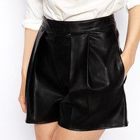 ASOS Leather Look Shorts at asos.com