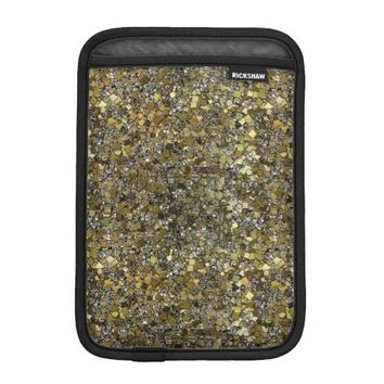 Sparkling Silver & Gold iPad Mini Sleeve Vertical
