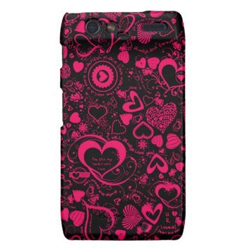 Heart Love Doodles Motorola Droid Razr