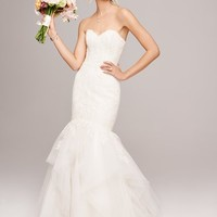 Amsale 'Carson' French Lace & Tulle Mermaid Wedding Dress (In Stores Only) | Nordstrom