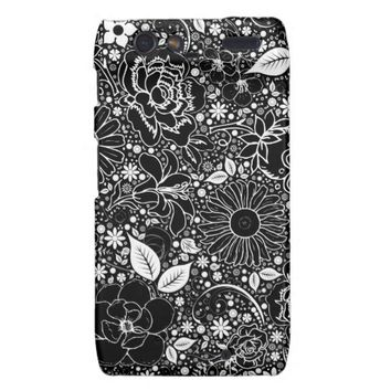 Botanical Beauties Black Motorola Droid Razr Case