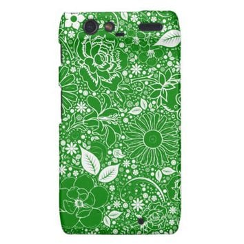 Botanical Beauties Green Motorola Droid Razr