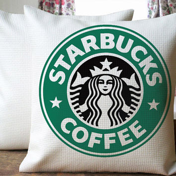 Starbuck Cover Logo Beautiful Design Cover for  Pillow Cover 18 x 18 inches