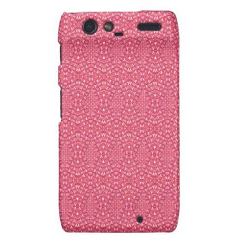 Pave Diamonds Candy Pink Motorola Droid Razr Case