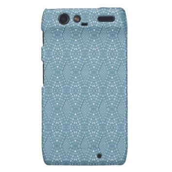 Pave Diamonds Blue Motorola Droid Razr Case