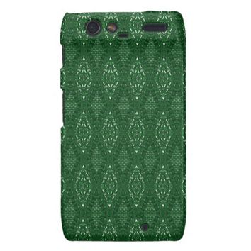 Pave Diamonds Emerald Green Motorola Droid Case