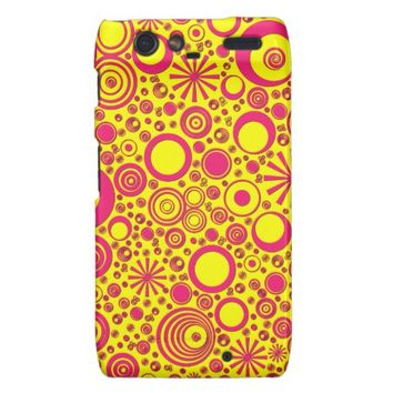 Rounds, Pink-Yellow Motorola Droid Razr Case