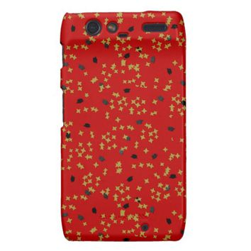 Red Graduation Confetti Droid Razr Case