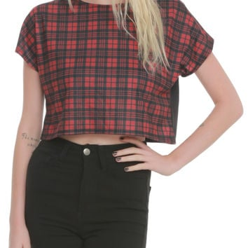 Red Plaid Crop Top