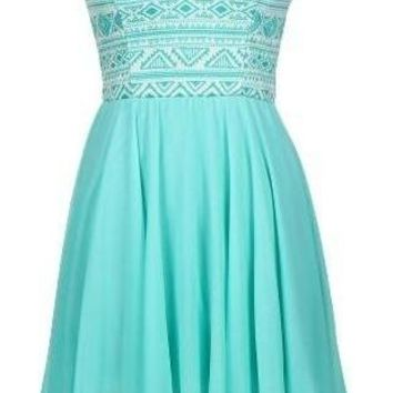 Mint Sweetheart Dress