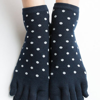 Women New Must Have Hezwagarcia Japan Edition Premium Cotton Super Cute Split Toe Socks Featuring Polka Dot Pattern