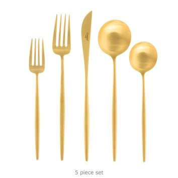 Moon Flatware: Brushed Gold - A+R Store