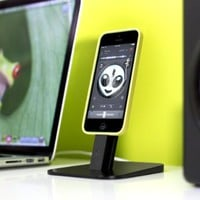 Twelve South HiRise for iPhone/iPad mini - brushed Metal Stand Designed to Work with your Apple Lightning Cable (Black)